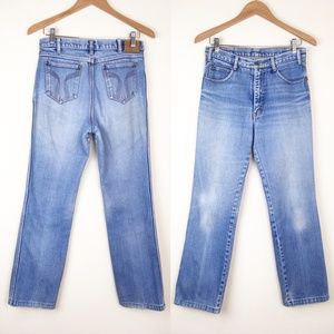 VTG 80s DURANGO Distressed Denim Jeans 28x30 Faded
